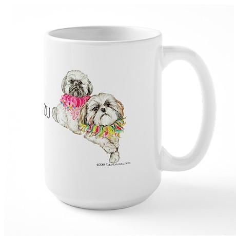 Two Shih Tzu! Large Mug