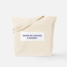 Nemo Me Impune Lacessit Canvas Tote Bag