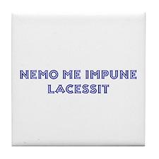 Nemo Me Impune Lacessit Tile Coaster
