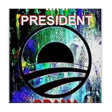 Cute Mr. president Tile Coaster