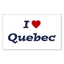 I HEART QUEBEC Rectangle Bumper Stickers