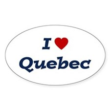 I HEART QUEBEC Oval Bumper Stickers