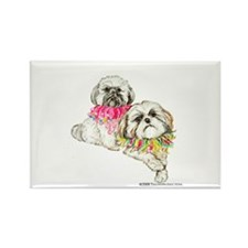Two Shih Tzu! Rectangle Magnet (100 pack)