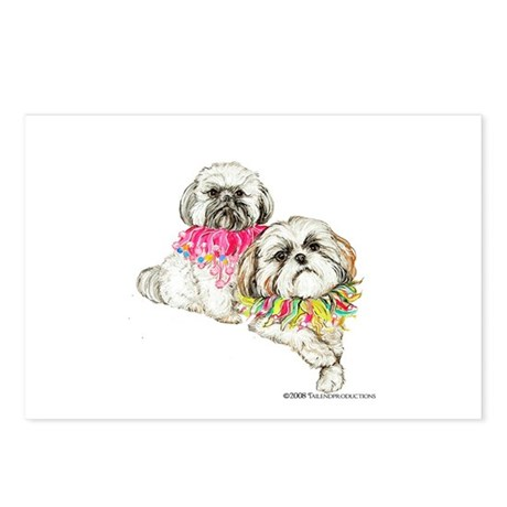 Two Shih Tzu! Postcards (Package of 8)