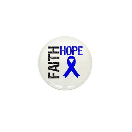 Faith Hope Colon Cancer Mini Button