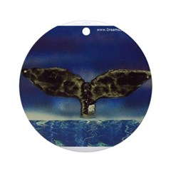 Whale Tail 2 Ornament (Round)