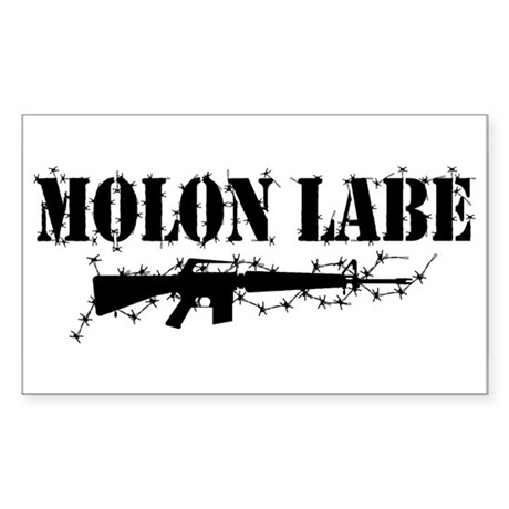 Molon Labe Rectangle Sticker 10 pk)