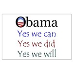 Obama: Yes we will Large Poster