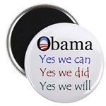 "Obama: Yes we will 2.25"" Magnet (100 pack)"