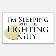 Sleeping with the Lighting Guy Rectangle Decal
