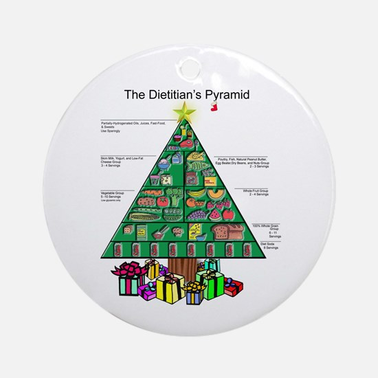 Dietitian Christmas Ornament (Round)