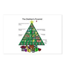 Dietitian Christmas Postcards (Package of 8)