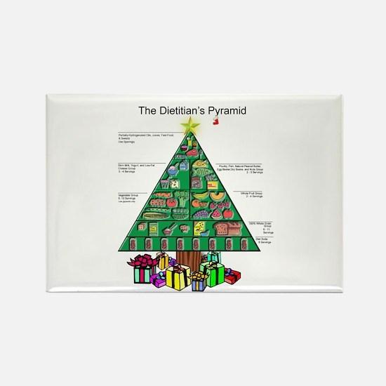 Dietitian Christmas Rectangle Magnet