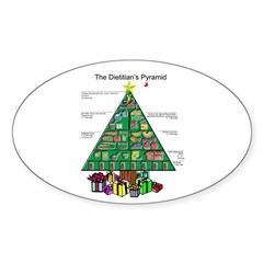 Dietitian Christmas Oval Decal