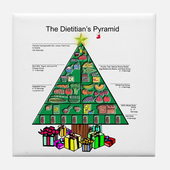 Dietitian Christmas Tile Coaster