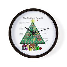 Dietitian Christmas Wall Clock