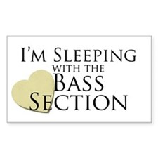 Sleeping with the Bass Section Rectangle Decal