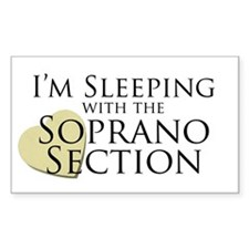 Sleeping with the Soprano Rectangle Decal