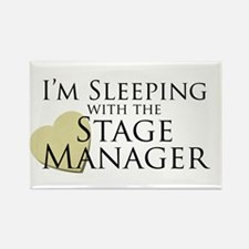 Sleeping with the Stage Manager Rectangle Magnet
