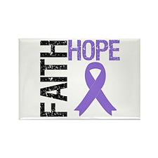 FaithHope Pancreatic Cancer Rectangle Magnet