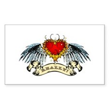 Really? Winged Heart Rectangle Decal