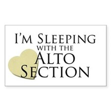 Sleeping with the Alto Section Rectangle Decal