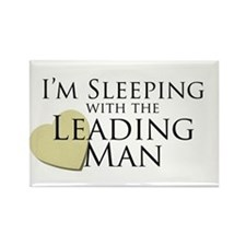 Sleeping with the Leading Man Rectangle Magnet