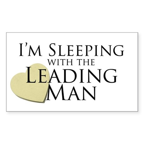 Sleeping with the Leading Man Rectangle Sticker