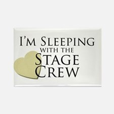 Sleeping with the Stage Crew Rectangle Magnet