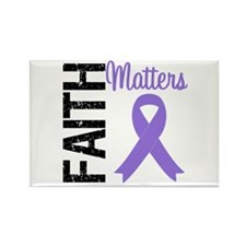 PancreaticCancer Faith Rectangle Magnet
