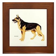 German Shepherd Dog Framed Tile