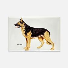 German Shepherd Dog Rectangle Magnet