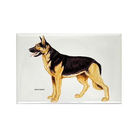 German Shepherd Dog Rectangle Magnet (10 pack)