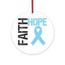 Hope Faith Prostate Cancer Ornament (Round)