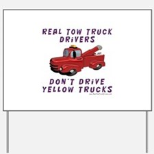 Red Tow Truck Gifts Yard Sign