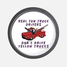 Red Tow Truck Gifts Wall Clock
