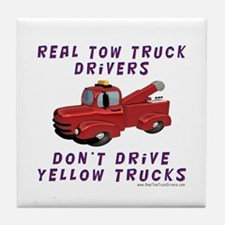 Red Tow Truck Gifts Tile Coaster