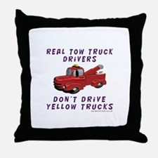 Red Tow Truck Gifts Throw Pillow