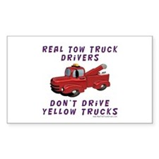 Red Tow Truck Gifts Rectangle Decal