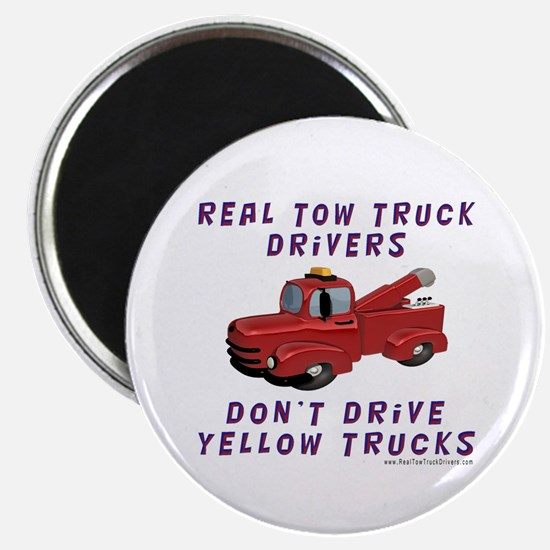 Red Tow Truck Gifts Magnet