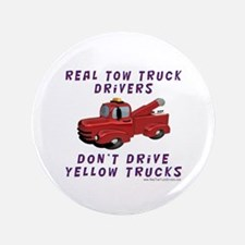 """Red Tow Truck Gifts 3.5"""" Button"""