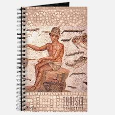 Tunisia Roman Mosaic: Fisherman Journal