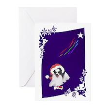 Cute Papillon christmas Greeting Cards (Pk of 10)