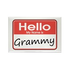 Hello, My name is Grammy Rectangle Magnet