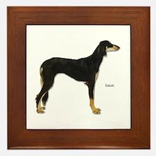 Saluki Dog Framed Tile