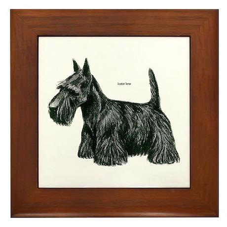 Scottish Terrier Dog Framed Tile