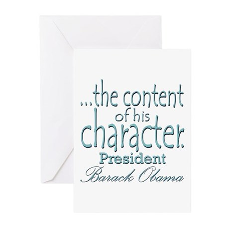 ...the content of his character Greeting Cards (Pk
