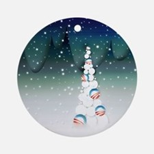 Obama Christmas Tree Ornament (Round, Green)