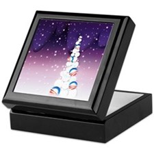 Obama Christmas Tree Keepsake Box (Purple)