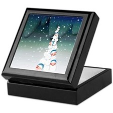 Obama Christmas Tree Keepsake Box (Green)